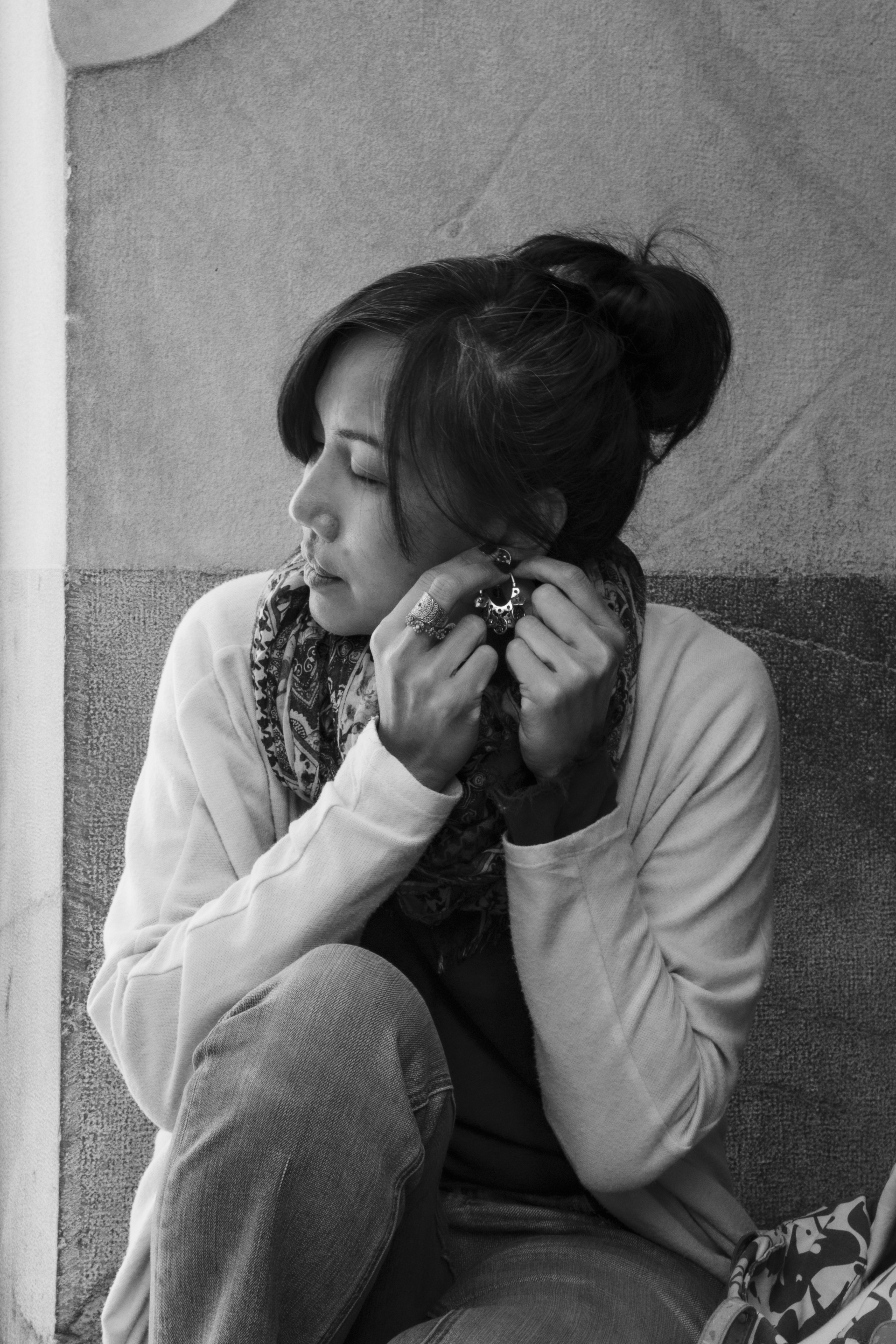 Substitutes Homeless, reportaje de fotografía de Diego Denora, expat en Valencia durante la pandemia Covid 19. Lila.