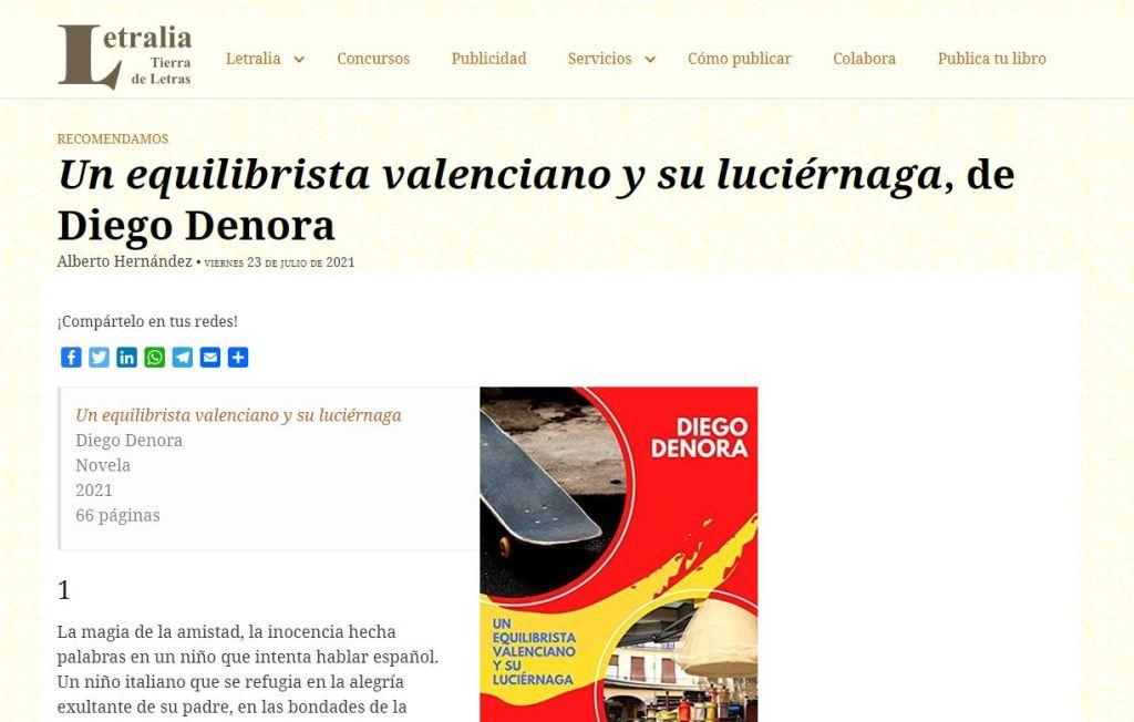 Un equilibrista valenciano y su luciérnaga - Reseña de Letralia